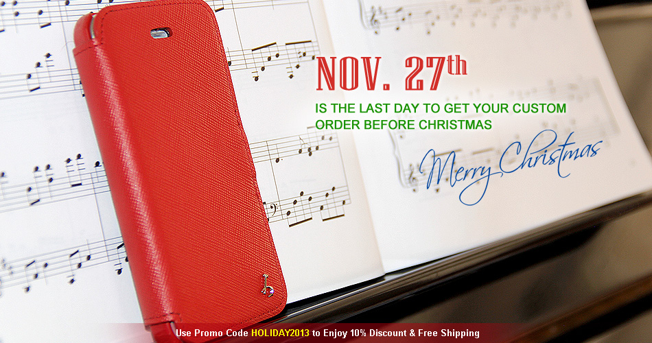 Personalize and custom build a leather case that is uniquely yours or give one as a gift for the Holidays. Nov 27th is the last day to submit a custom made to order case. Act now!