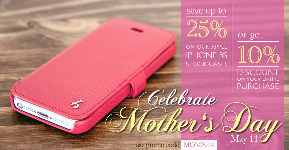 Celebrate Mother's Day with a Genuine Leather Case for your mom.