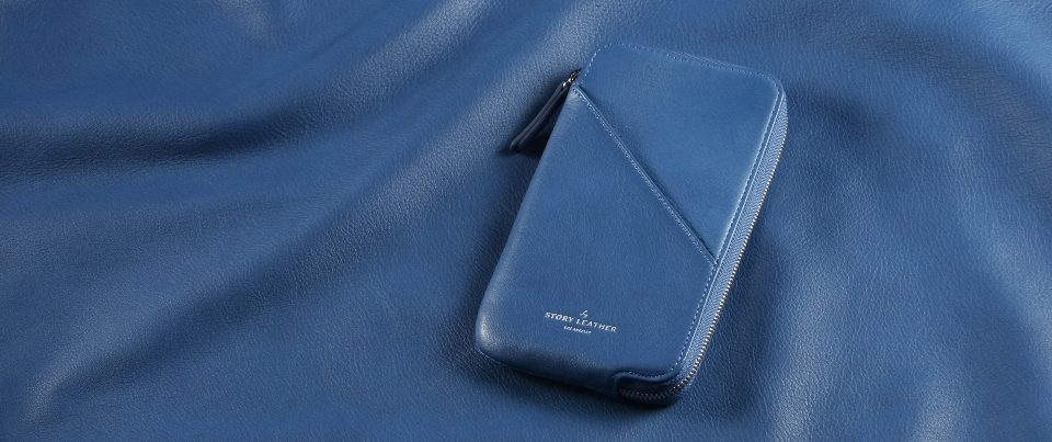 Blue Apple iPhone 7 Leather Zipper Pocket Wallet