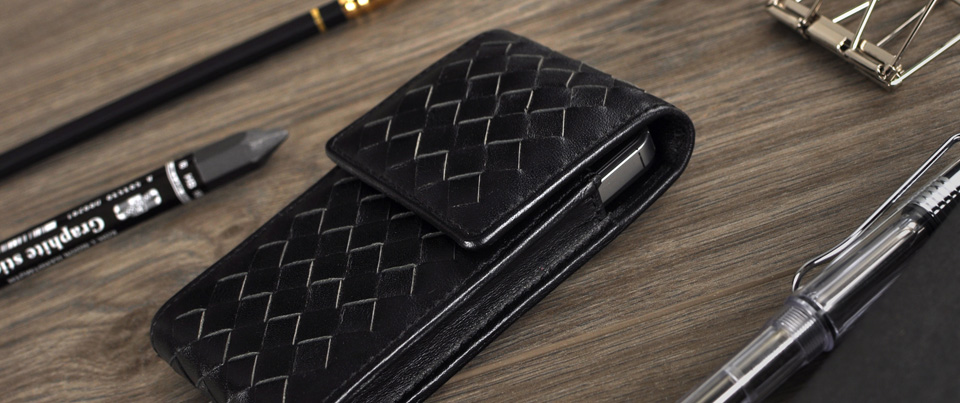 Montecito woven long holster pouch with belt clip