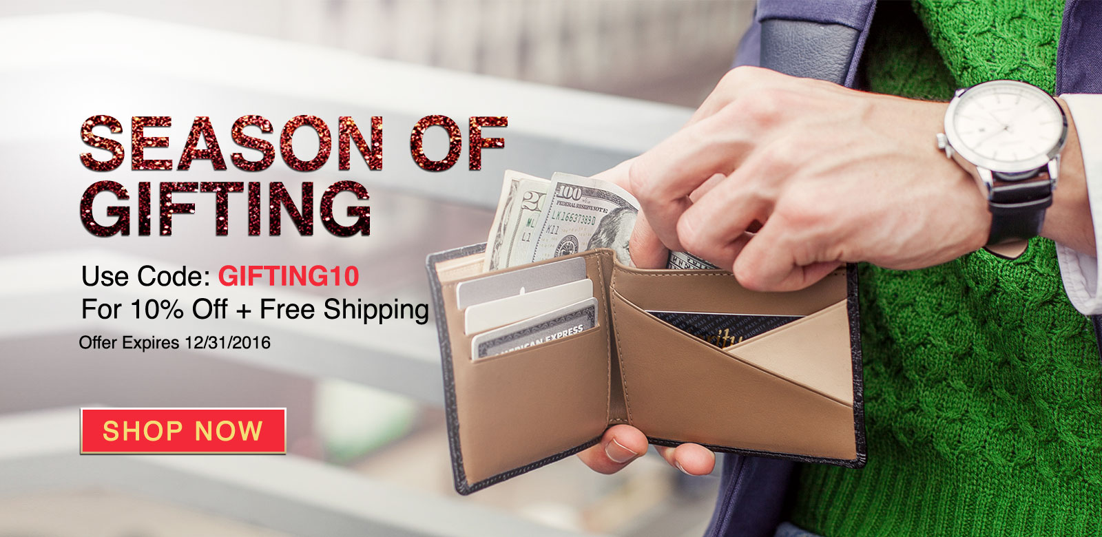 Season of Gifting - Save 10% + Free Shipping Today