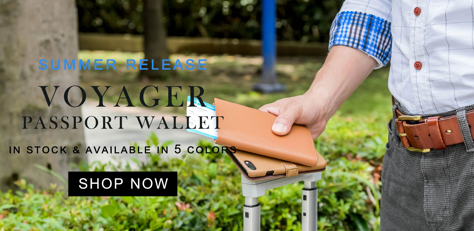 New Product for Summer - Voyager Passport Wallet for Summer Traveling