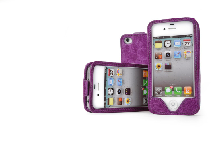 Perris leather wrap enclosure case for most popular smartphones