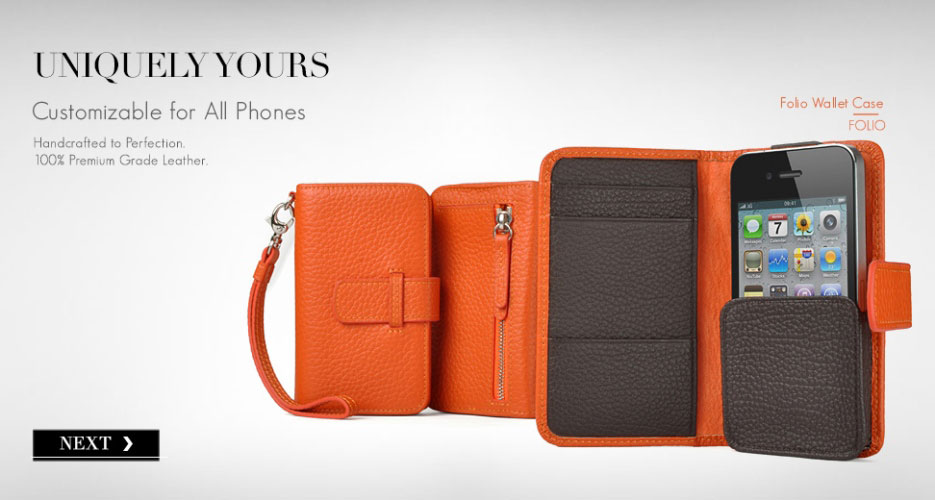 Folio leather wallet case for all smart phones