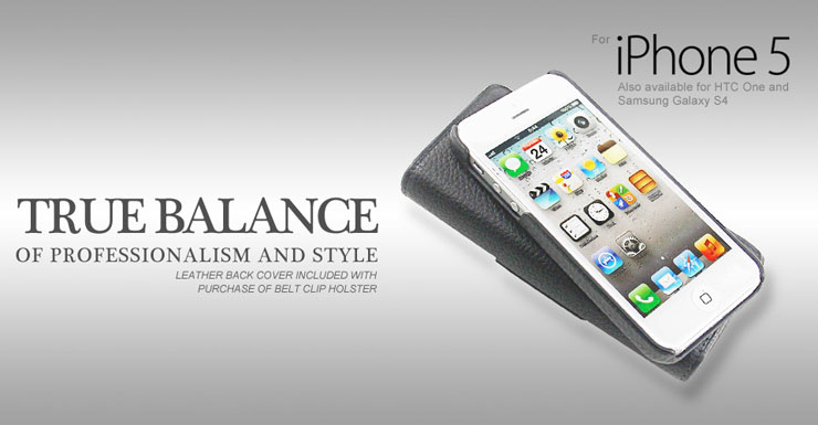 black napa leather belt clip holster pouch for apple iphone 5