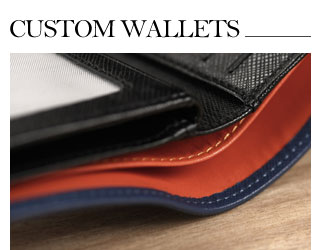 Fully customizable leather wallets