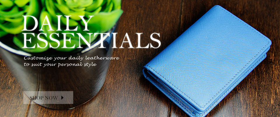 Custom made to order leather wallets, tote bags, purses and more