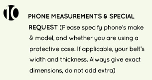 10. special requests and smartphone make and model