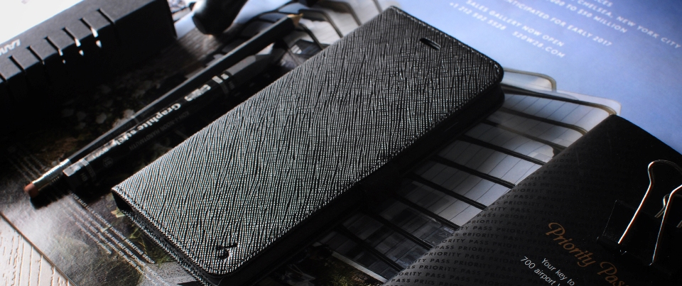 Black Apple iPhone 7 Plus Leather Side Flip Phone Case