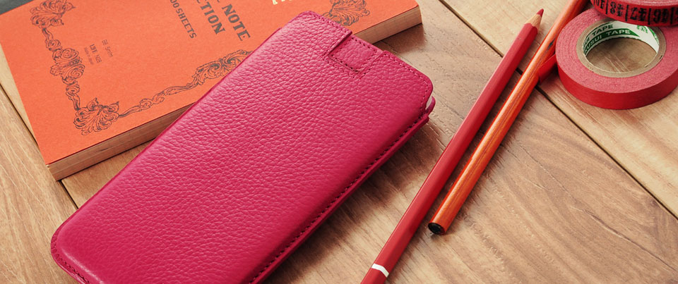 hard shell curved leather pouch for all phones
