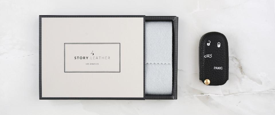 Custom Made Leather Key Cover for Your Chrysler 200s Keyless Car Key Fob