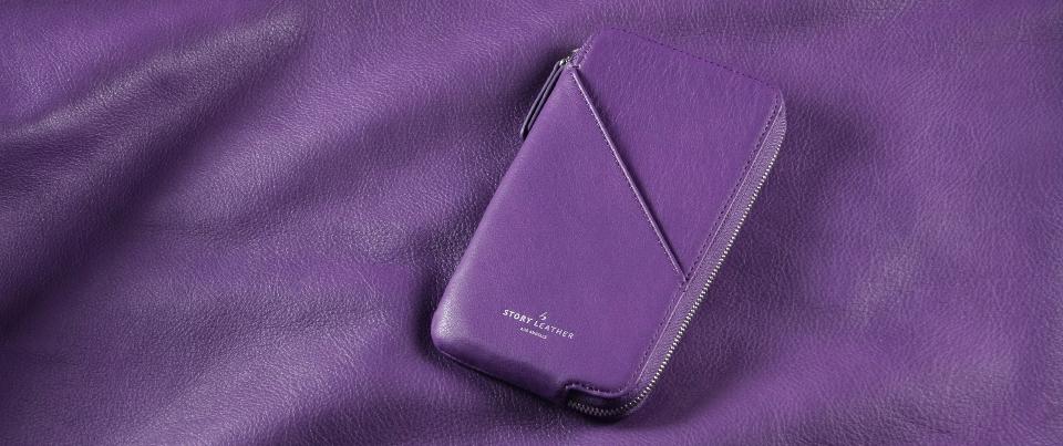 Tan Apple iPhone 7 Leather Zipper Pocket Wallet