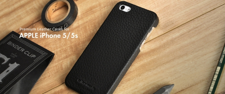 Black Apple iPhone 6 Plus Leather Back Cover Phone Case