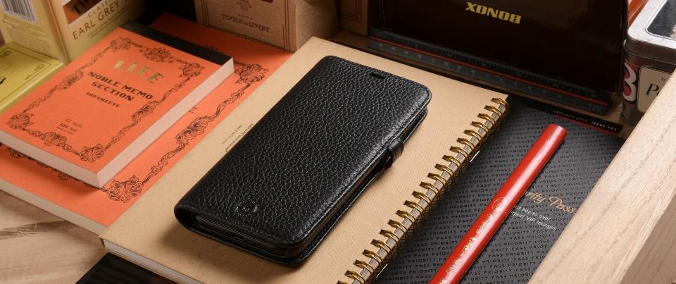 Black Apple iPhone X Aspen Leather Wallet Phone Case