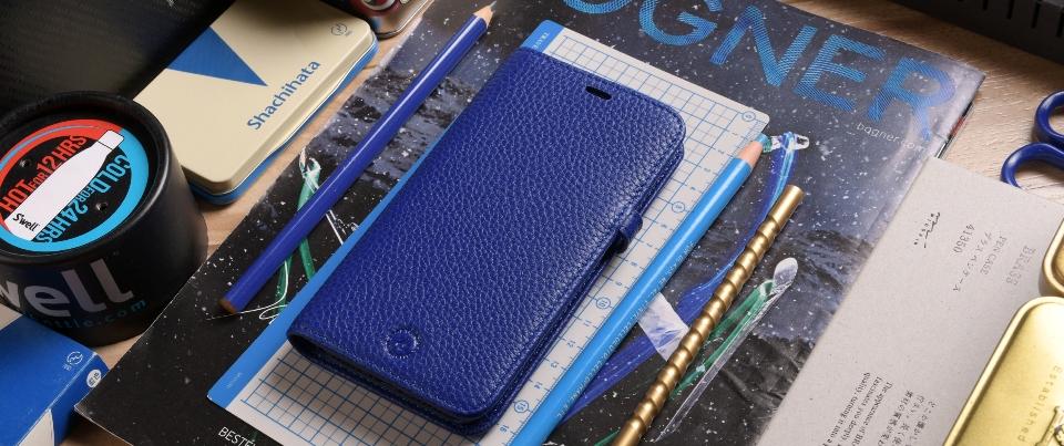 Blue Apple iPhone X Aspen Leather Wallet Phone Case