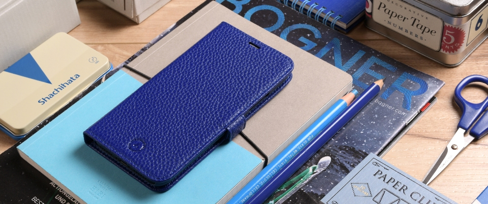 Blue Apple iPhone X Leather Book Style Wallet Phone Case