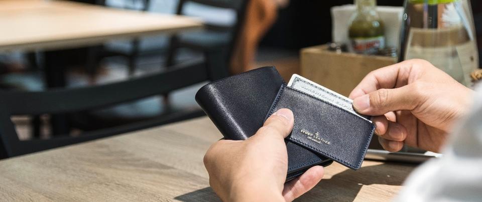 Tan Genuine Leather Slim Mens Wallet