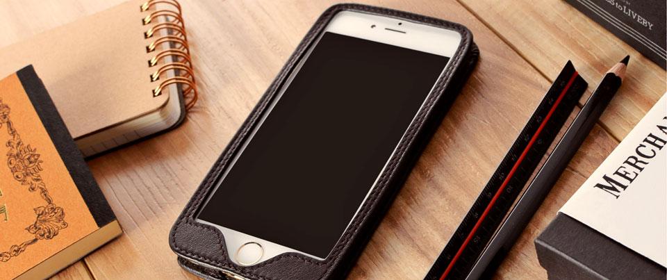 Perris leather wrap enclosure case for most popular smartphones