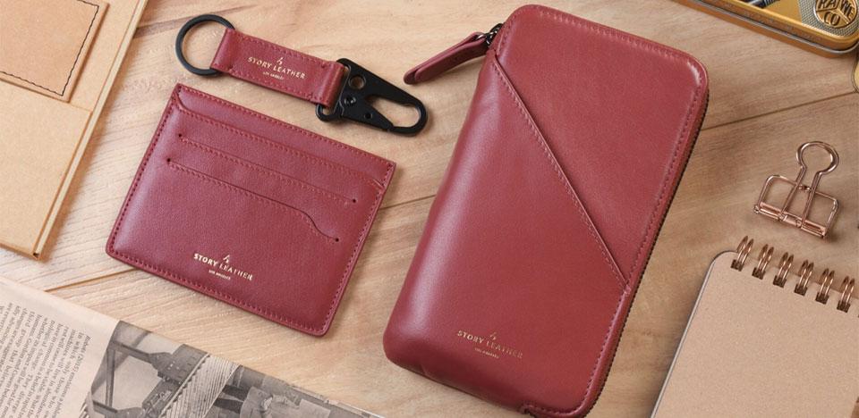 Burgundy Apple iPhone 7 Plus Leather Zipper Pocket Wallet Bundled Gift Set