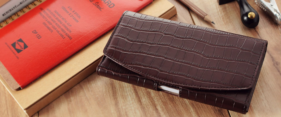 Spring Creek Leather Phone Holster Pouch Case with Belt Clip
