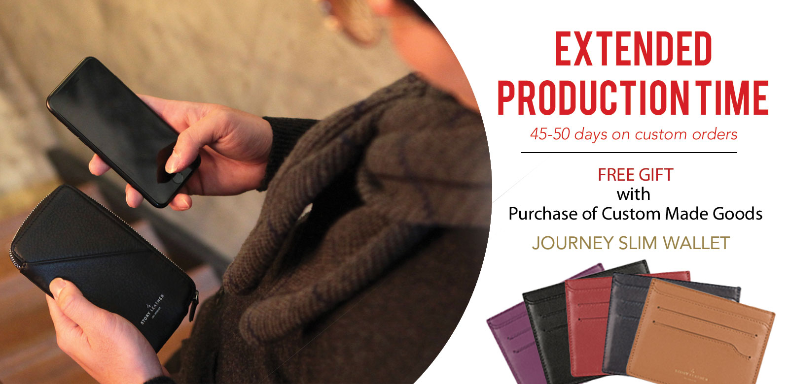 Limited Time Offer - Free Journey Slim Card Wallet with Order of Custom Made Goods