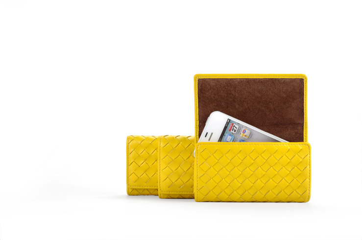 woven leather pattern leather purse case or clutch for all phones