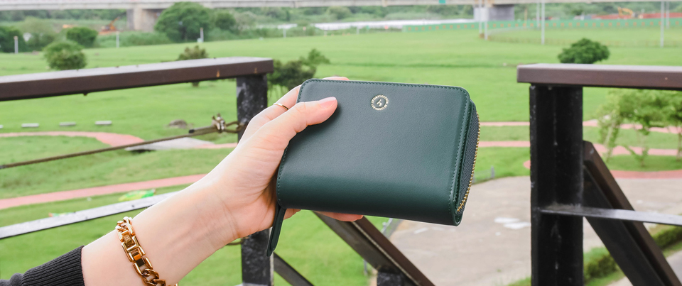 Custom made to order Leather Wristlet Coin Wallet