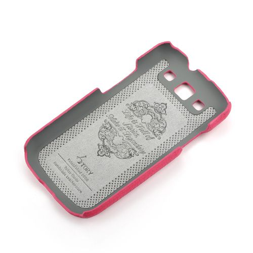 Pink Samsung Galaxy S3 Premium Leather Back Cover