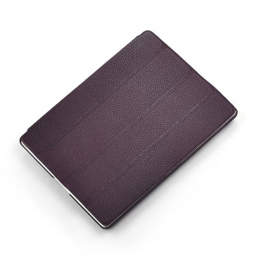 Purple Smart Hard Back Leather Case for NEW iPad