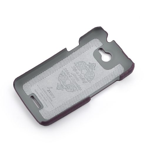Purple HTC ONE-X Premium Leather Back Cover