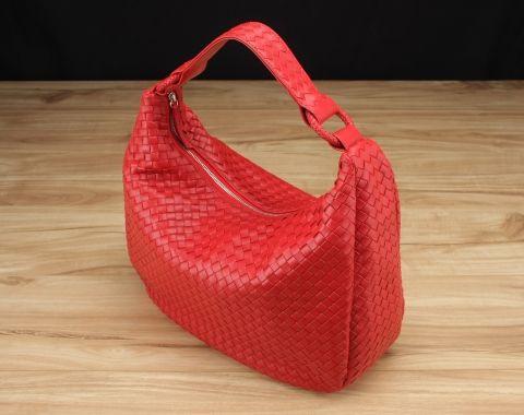 Victoria Woven Hobo Bag