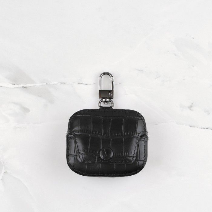 Black Crocodile Pattern for AirPods Pro