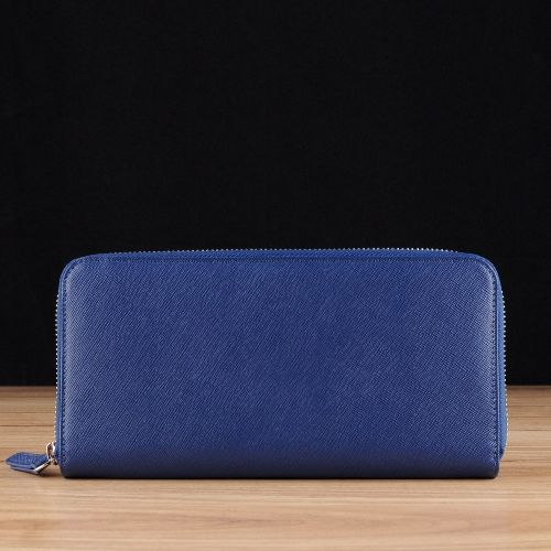 Blue Saffiano Leather