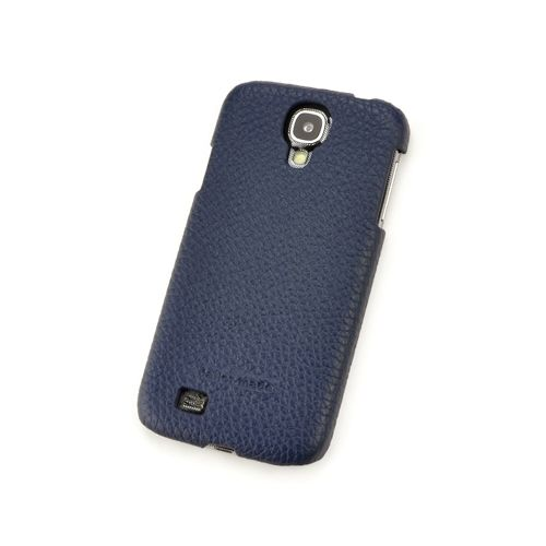 Blue Genuine Leather Back Cover for Samsung Galaxy S4