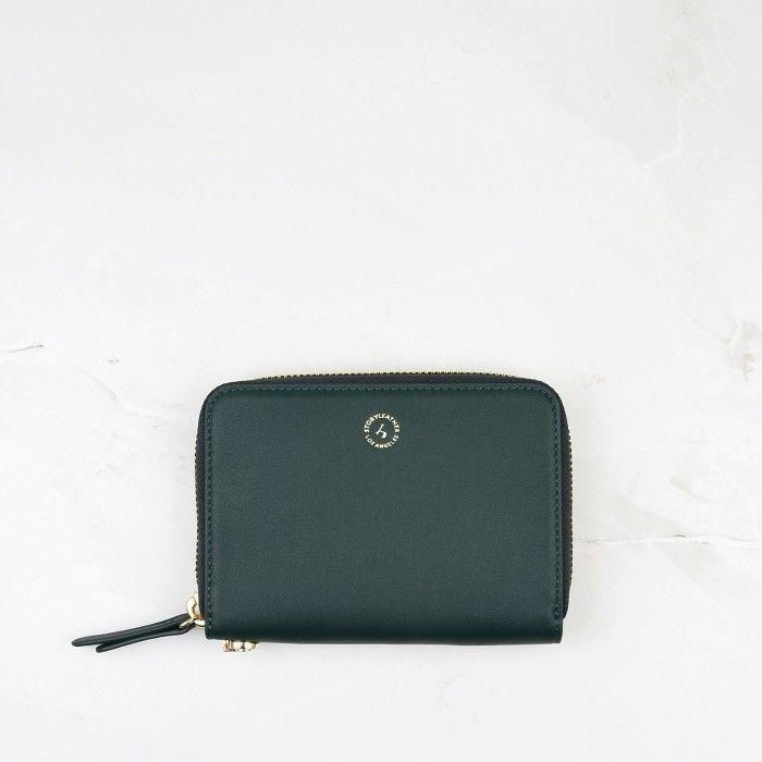Dark Green Calfskin Leather