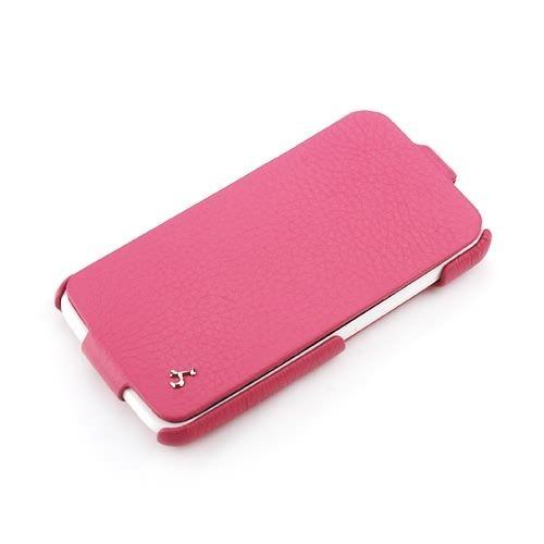 Pink HTC One X FLIP Down-Fold Premium Leather Case