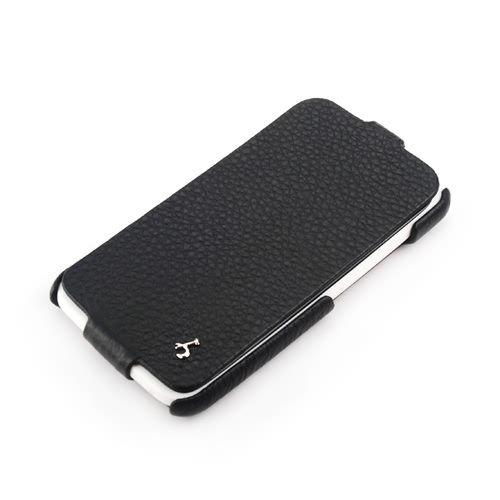 Black HTC One X FLIP Down-Fold Premium Leather Case
