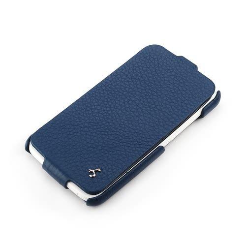 Blue HTC One X FLIP Down-Fold Premium Leather Case
