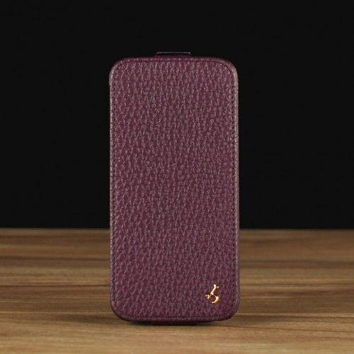 Purple Pebble Grain Leather