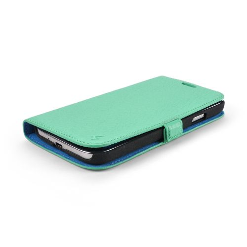 Mint Premium Genuine Leather Side Flip Leather Wallet Case for Samsung Galaxy S4