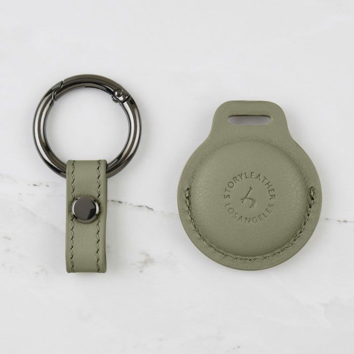 AirTag Leather Keychain - Pastel Green