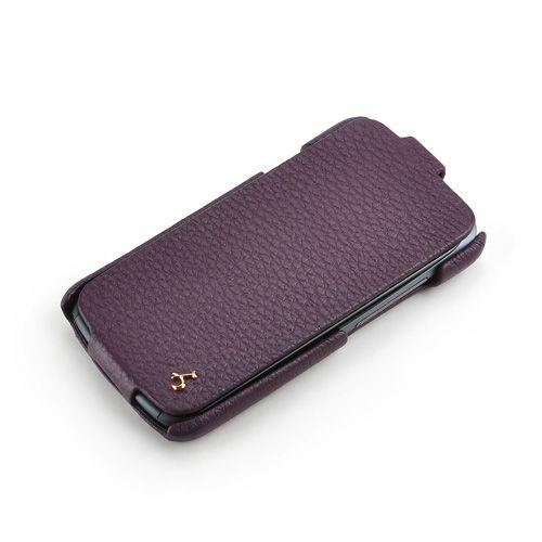 Purple HTC One S FLIP Down-Fold Premium Leather Case