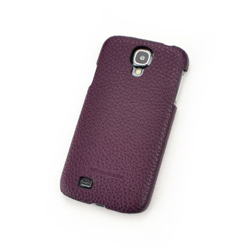 Purple Genuine Leather Back Cover for Samsung Galaxy S4