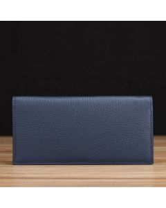 Blue Pebble Grain Leather