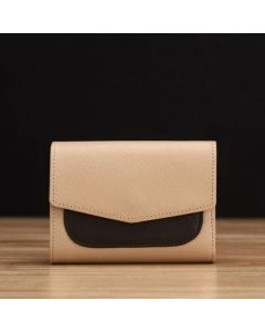 Beige Saffiano Leather