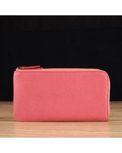 Rose Pink Saffiano Leather