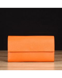 Orange Saffiano Leather