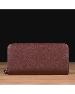 Maroon Saffiano Leather