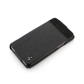 Black Samsung i9100 Hard Shell PDA-Style Down-Fold Leather Case