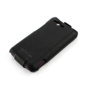 HTC Rhyme Hard Shell PDA-Style Down-Fold Leather Case